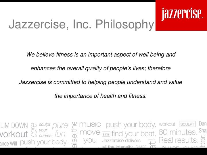 We believe fitness is an important aspect of well being and enhances the overall quality of people