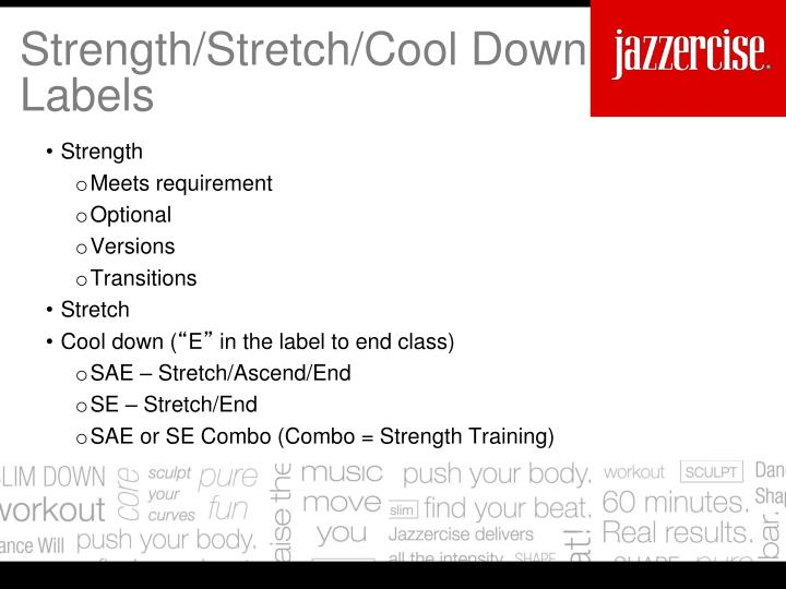Strength/Stretch/Cool Down