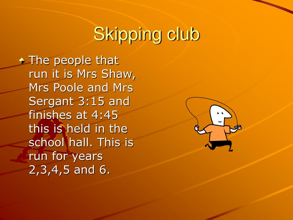 Skipping club