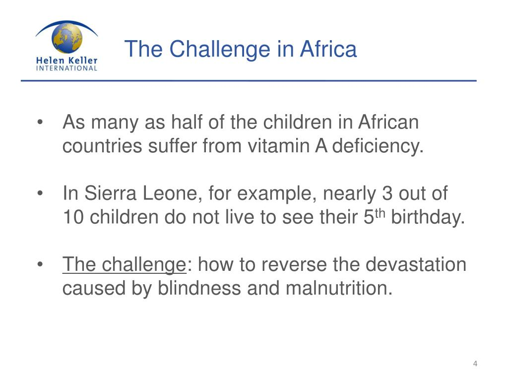 The Challenge in Africa