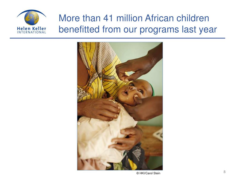 More than 41 million African children benefitted from our programs last year