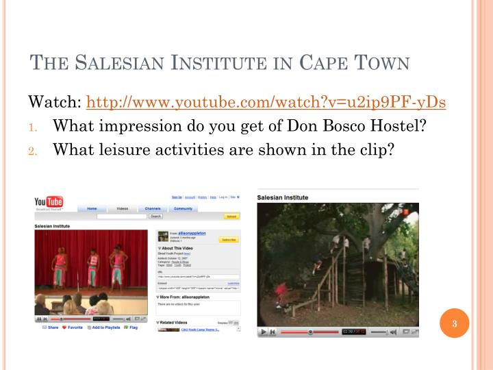 The salesian institute in cape town