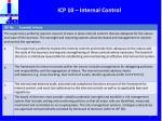 icp 10 internal control