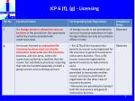 icp 6 f g licensing