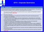 icp 9 corporate governance