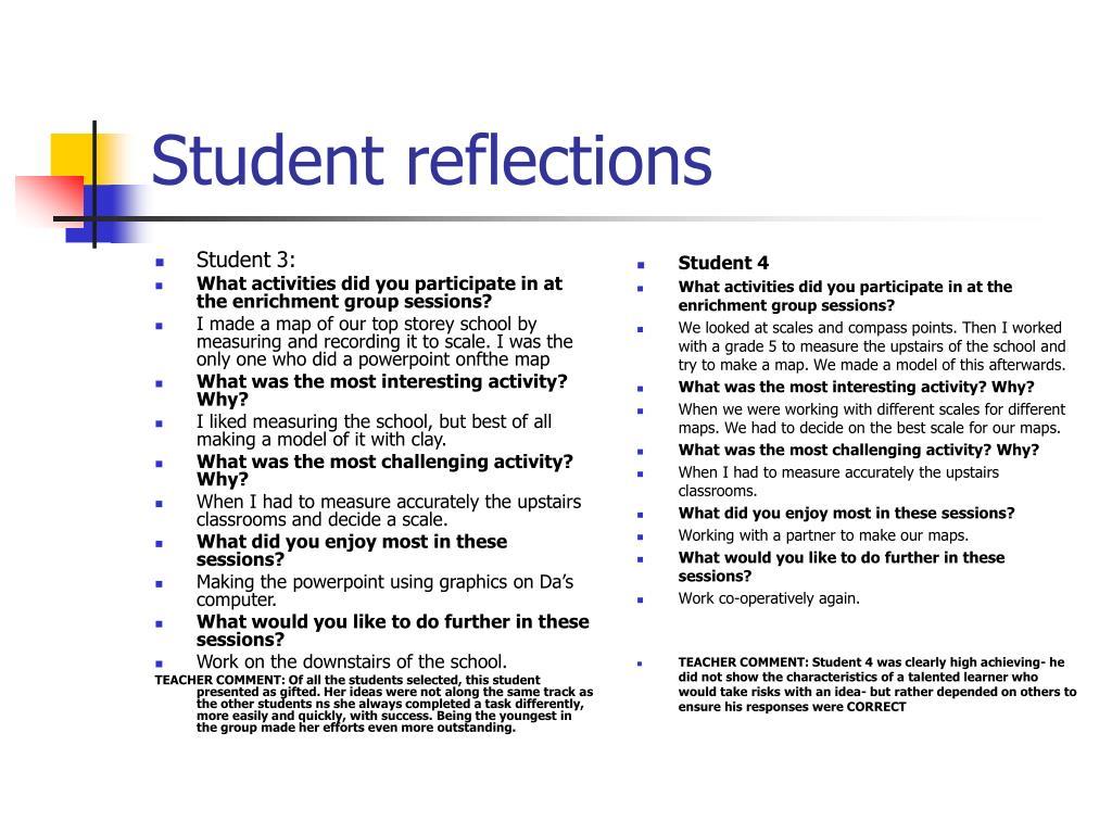 Student 3: