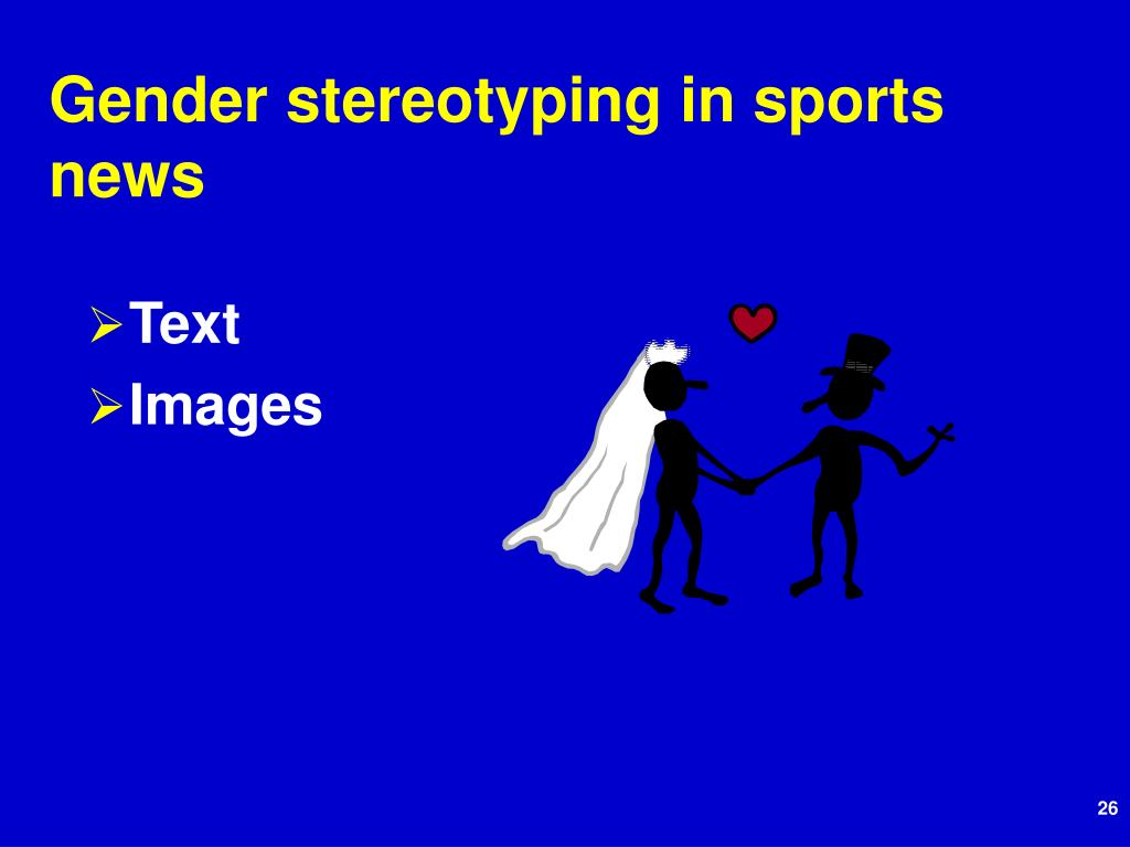 Gender stereotyping in sports news