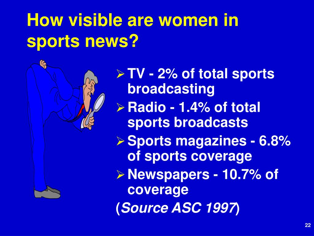 How visible are women in sports news?