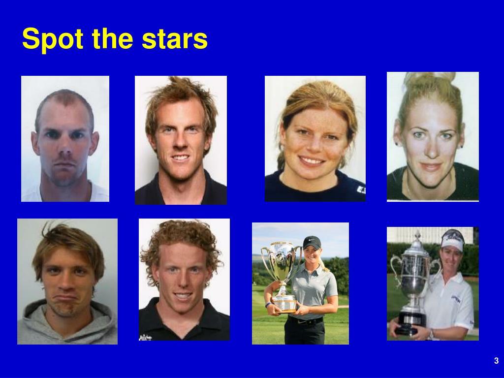 Spot the stars
