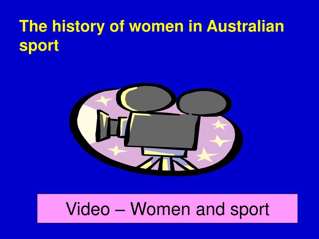 The history of women in Australian sport