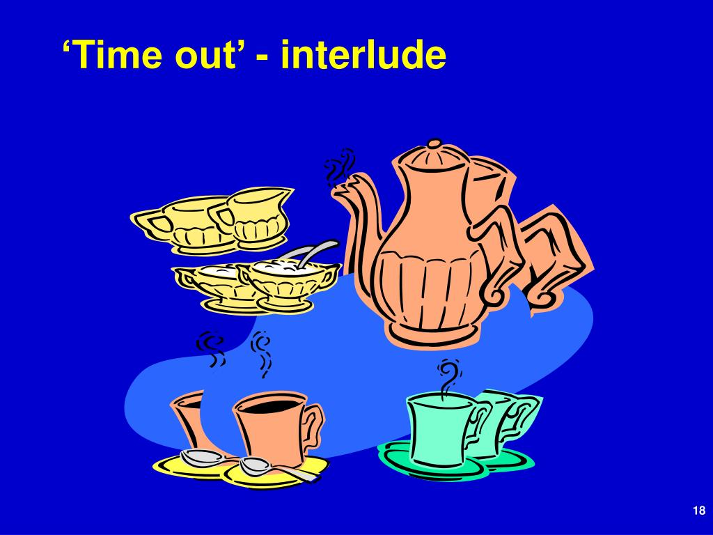'Time out' - interlude