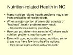 nutrition related health in nc