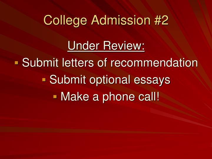 College Admission #2