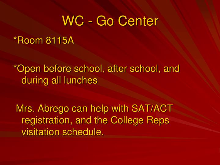 WC - Go Center