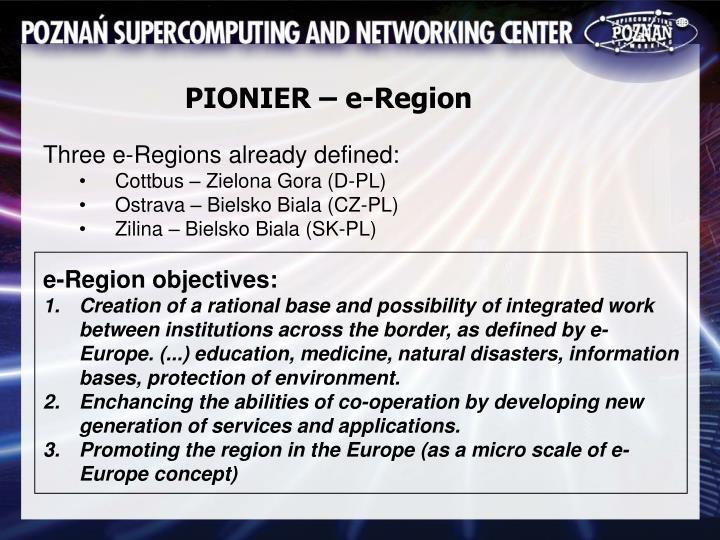 PIONIER – e-Region