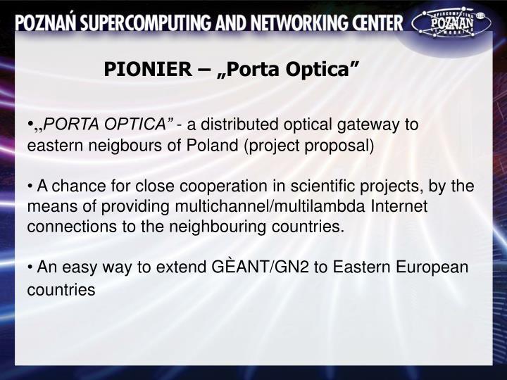 "PIONIER – ""Porta Optica"""