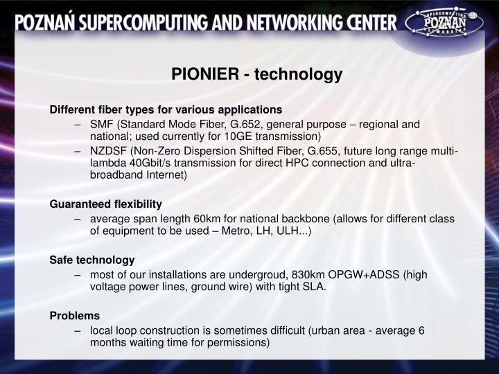 PIONIER - technology