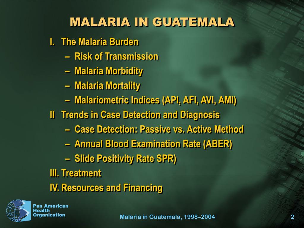 MALARIA IN GUATEMALA