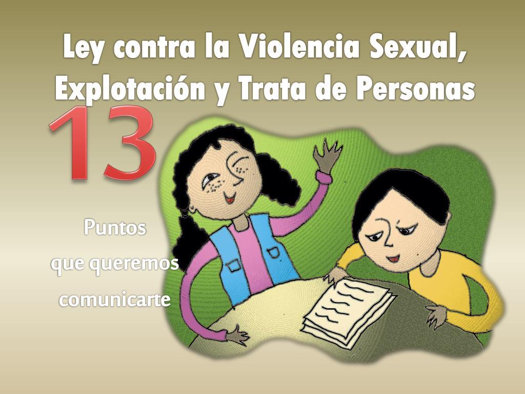 Ley contra la Violencia Sexual, Explotación y Trata de Personas