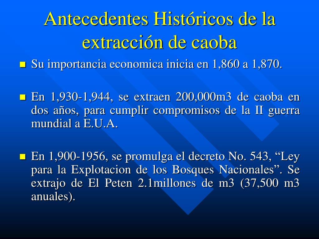 Antecedentes Históricos de