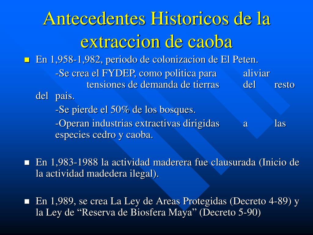 Antecedentes Historicos de