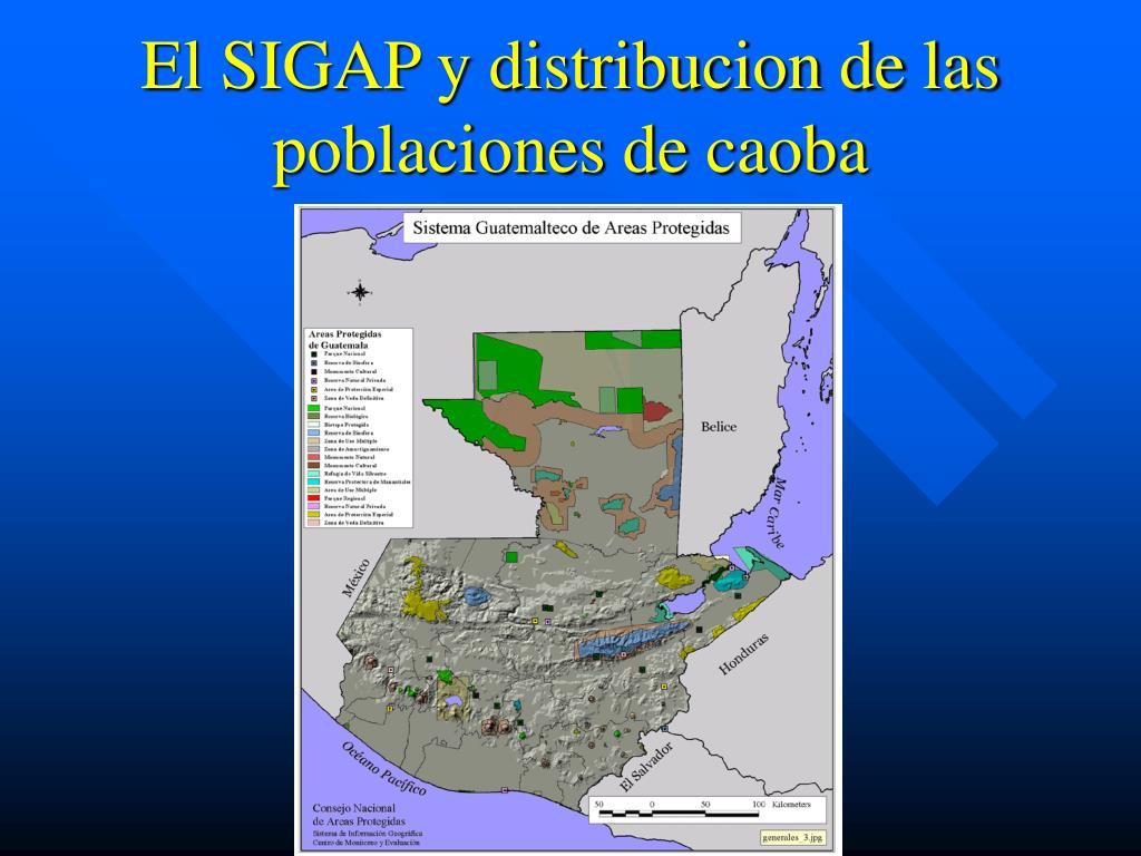 El SIGAP y distribucion de las poblaciones de caoba