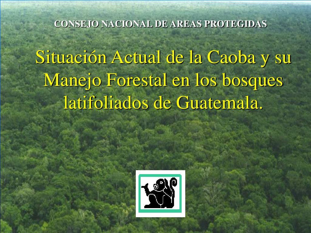 CONSEJO NACIONAL DE AREAS PROTEGIDAS