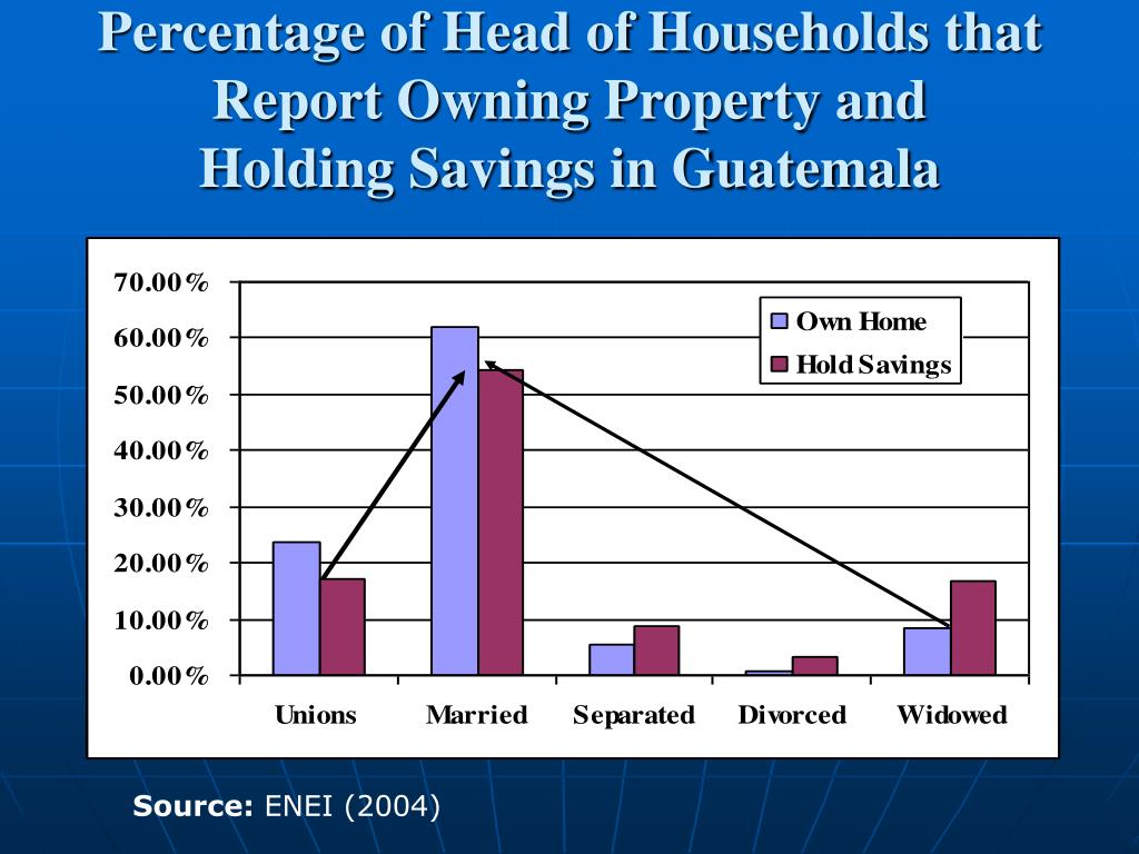 Percentage of Head of Households that Report Owning Property and
