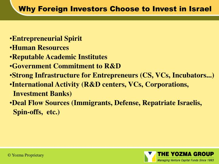 Why Foreign Investors Choose to Invest in Israel