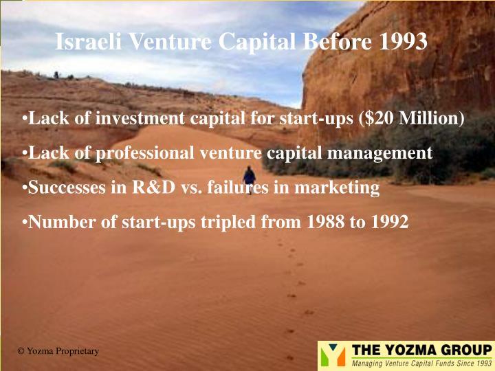 Israeli Venture Capital Before 1993