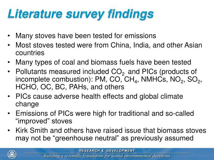 Literature survey findings