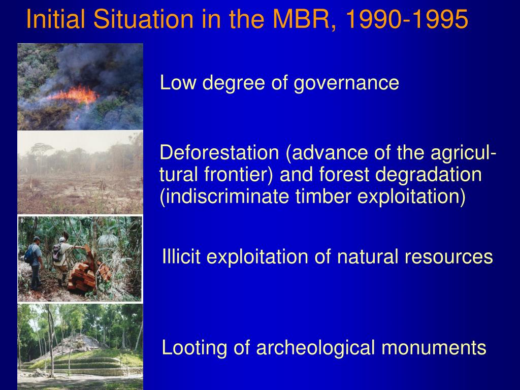 Initial Situation in the MBR, 1990-1995