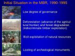 initial situation in the mbr 1990 1995