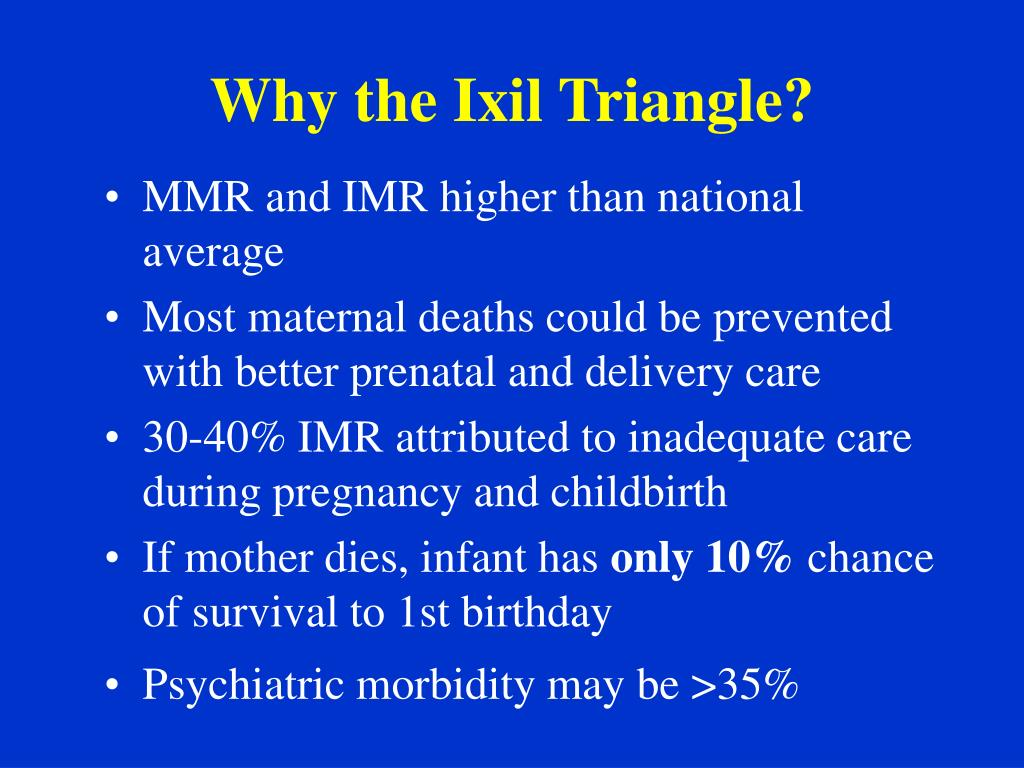 Why the Ixil Triangle?