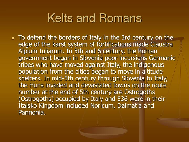 Kelts and Romans