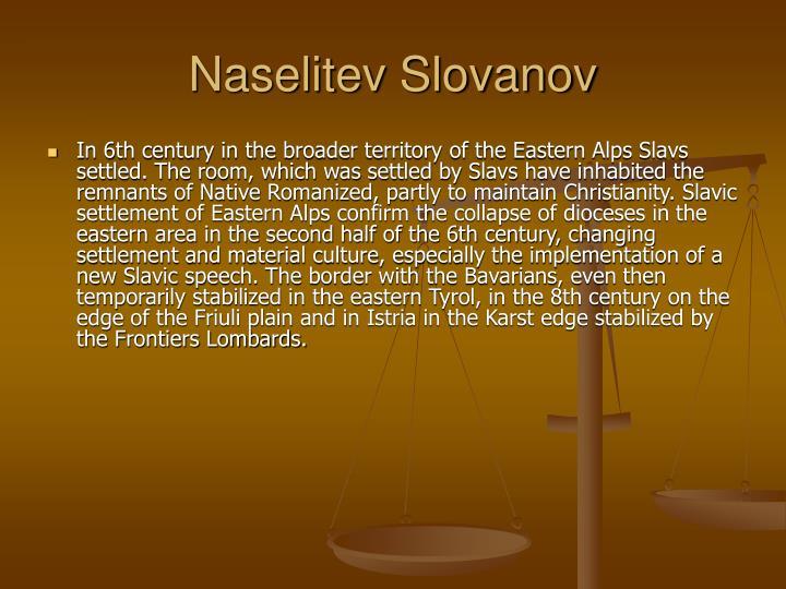 Naselitev Slovanov