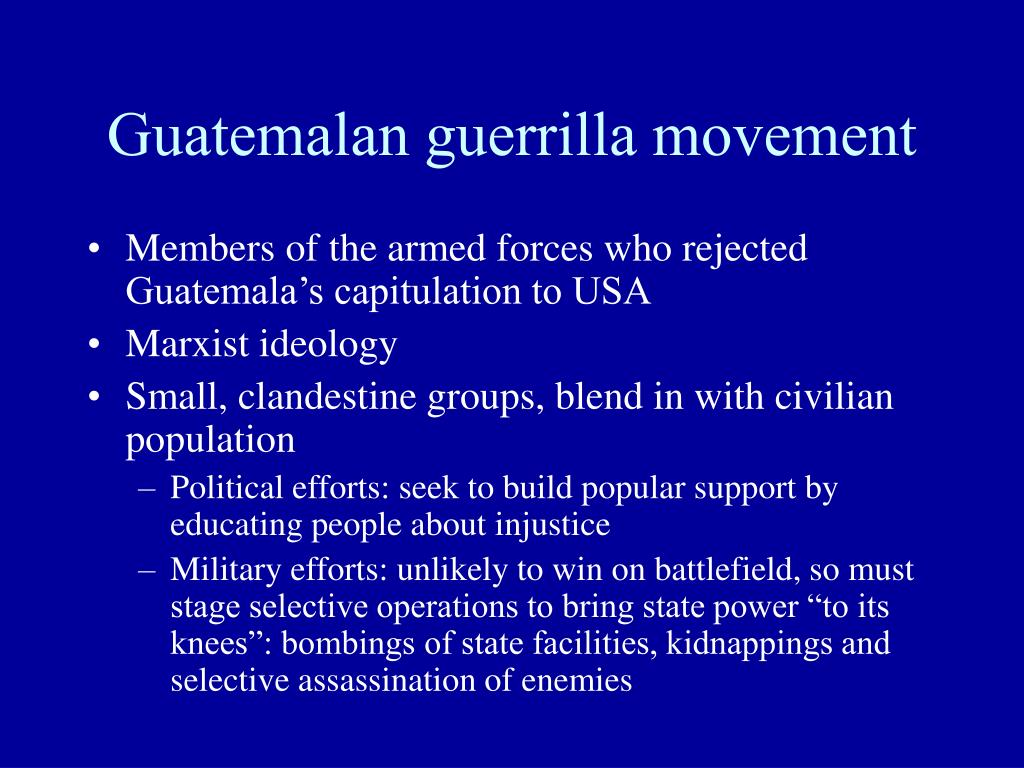 Guatemalan guerrilla movement