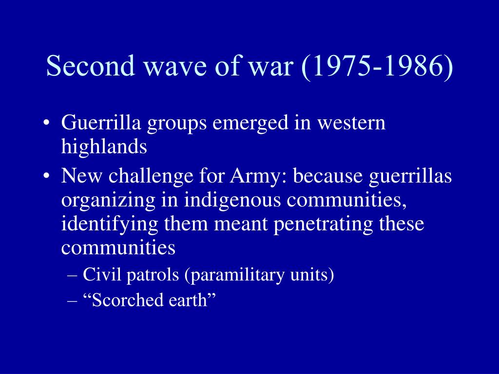 Second wave of war (1975-1986)