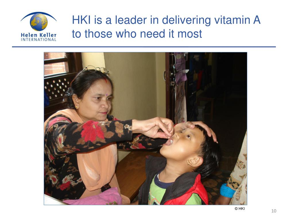 HKI is a leader in delivering vitamin A to those who need it most