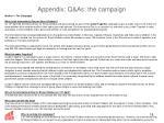 appendix q as the campaign