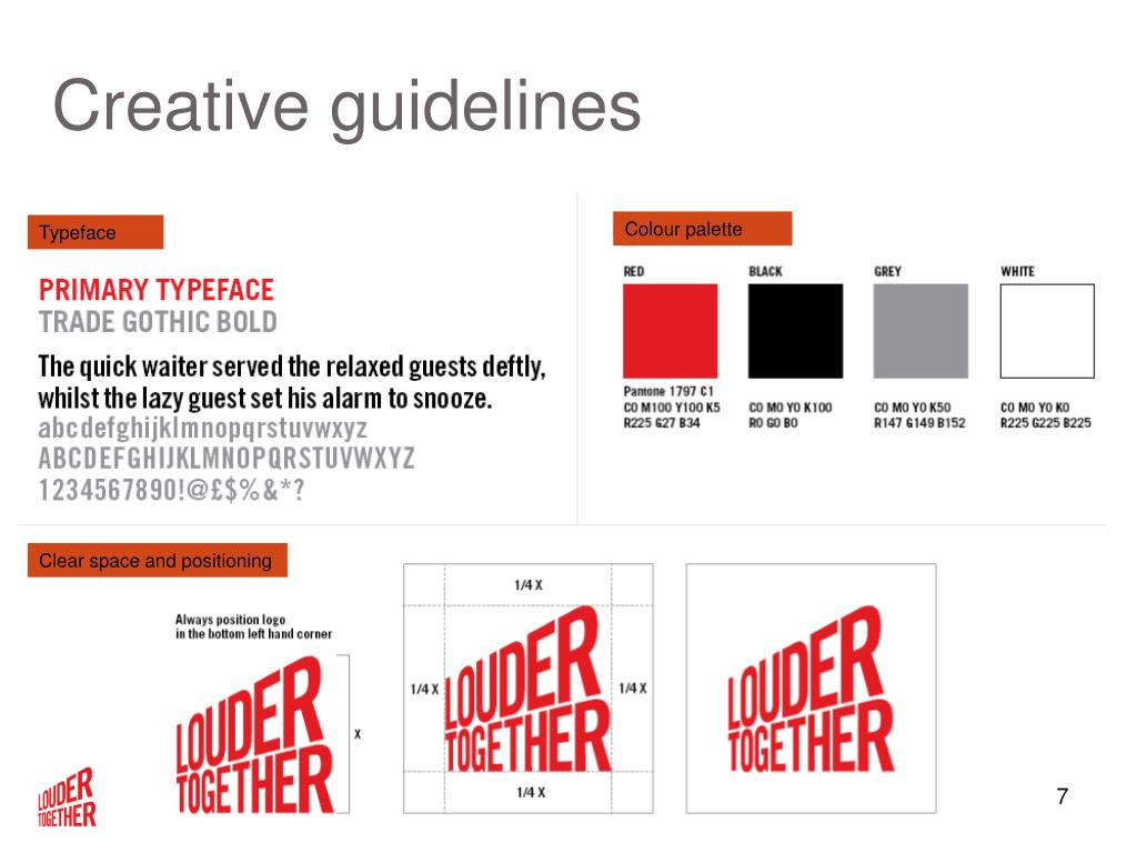 Creative guidelines