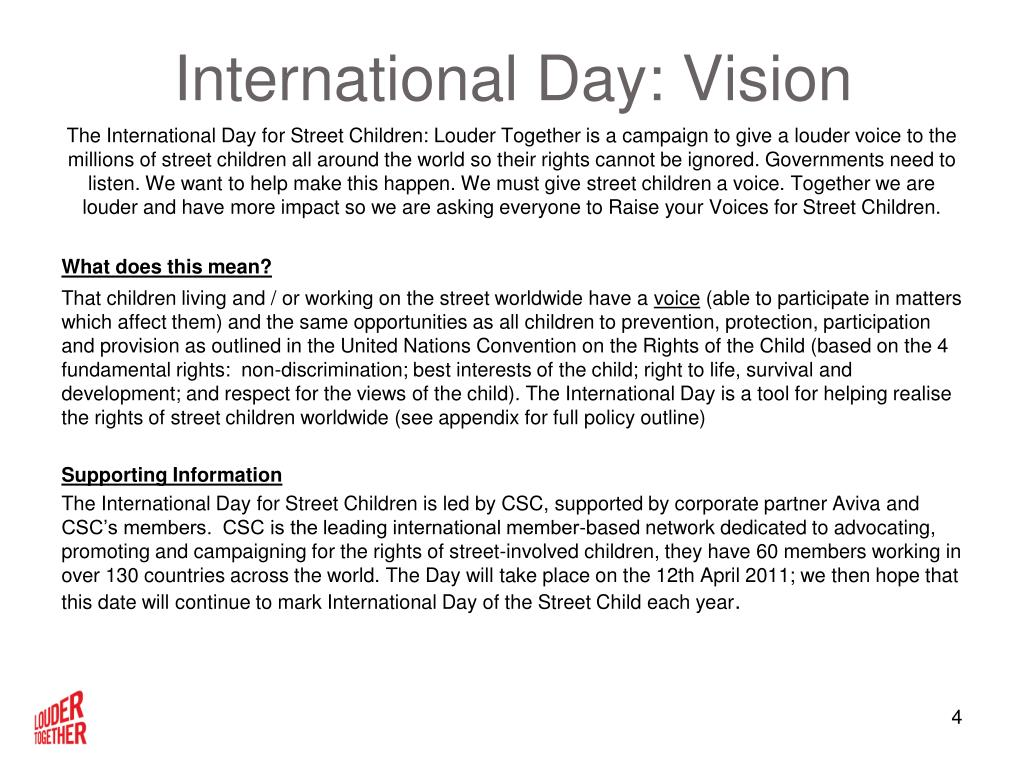 International Day: Vision