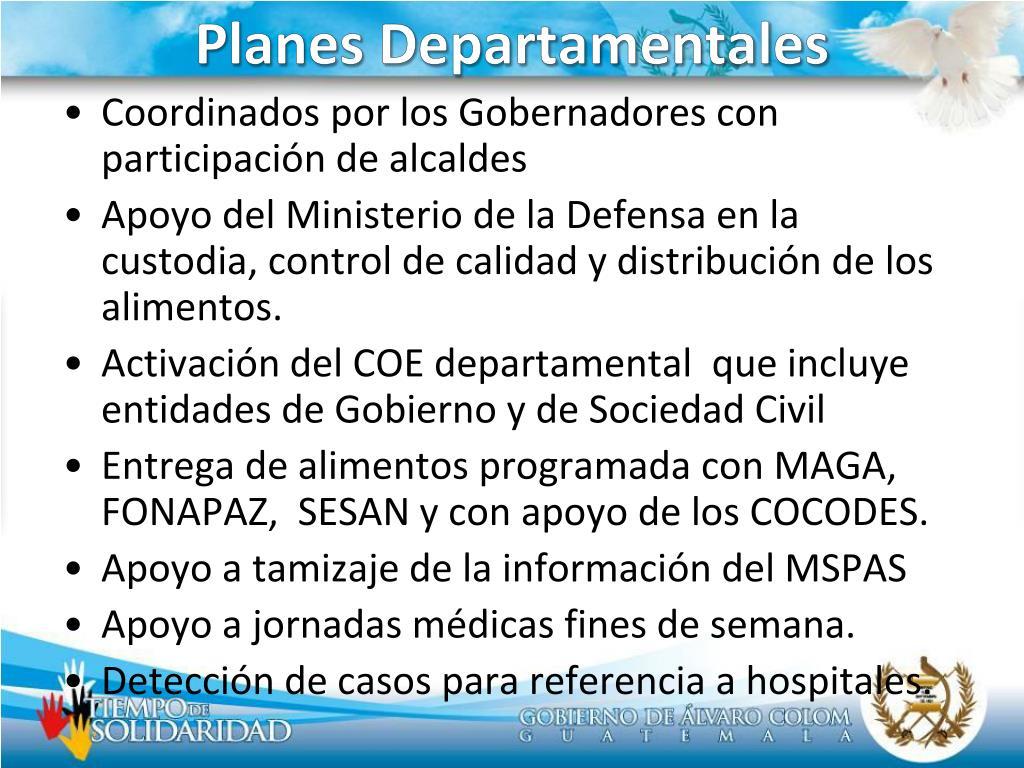 Planes Departamentales