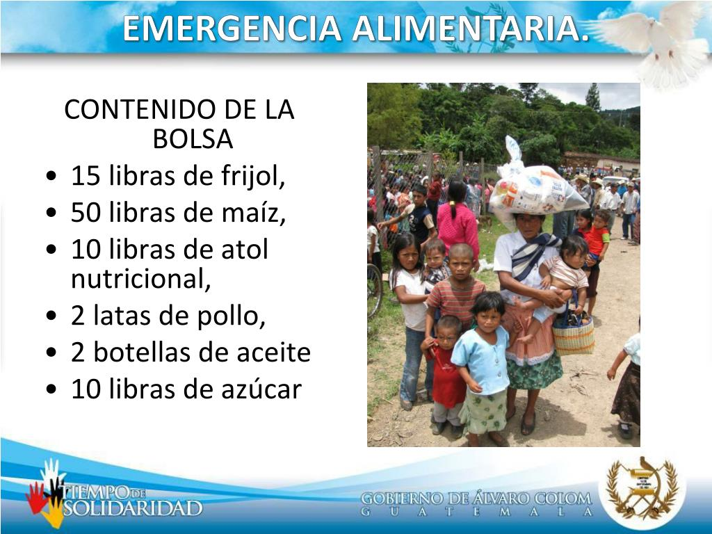 EMERGENCIA ALIMENTARIA.