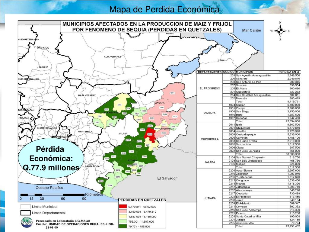Mapa de Perdida Económica