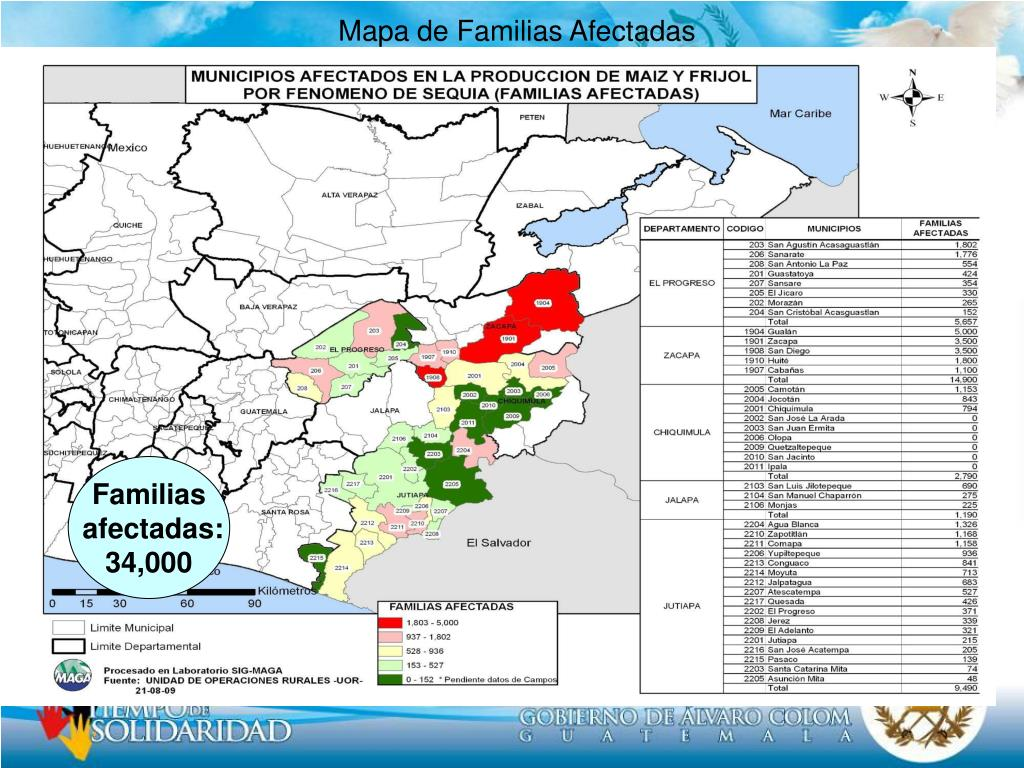 Mapa de Familias Afectadas