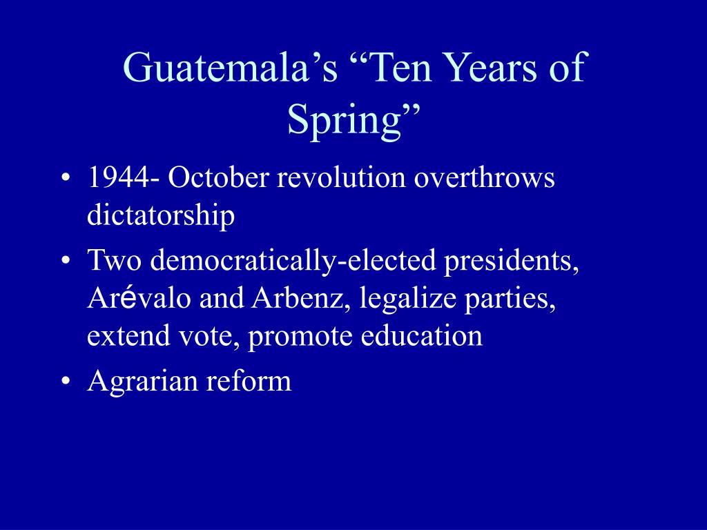 "Guatemala's ""Ten Years of Spring"""