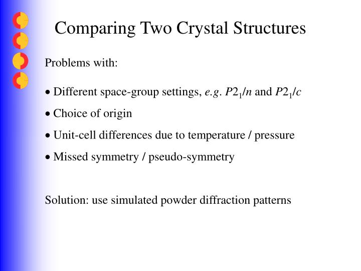 Comparing Two Crystal Structures