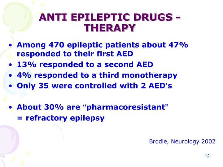 ANTI EPILEPTIC DRUGS - THERAPY