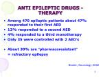 anti epileptic drugs therapy